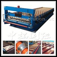 automatic metal corrugated roof decking roll former