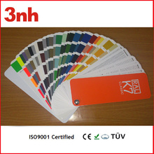 Shenzhen ral k7 color fabric shade card