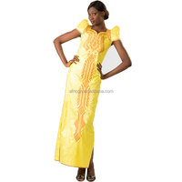 LQ151 Queency Trendy Rayon Bazin Maxi Dress Modest East African Clothing Plus Size for Women