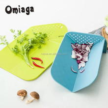 New Design Fancy Multi-function Folding cutting board with strainer