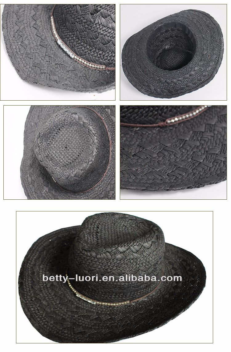 Promotional Cheap Western Mexican Cheap Plain Wholesale Straw Cowboy Hat