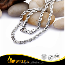 Stainless Steel Arabic Silver /Gold Two Tone Twist Mens Necklace