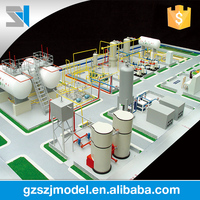 Skilled factory architecture scale models