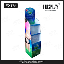 Wholesale point of purchase underwear/baby clothes cardboard floor display pedestals