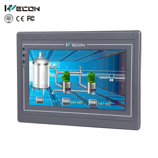 Wecon 7 inch advanced industrial pc support rs485 / rs232 / rs422 and reasonable price