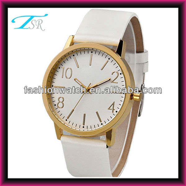Genuine leather quartz watch with high quality fashion branded hand watch for girl made in China