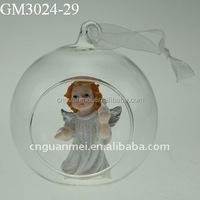 Xmas decoration clear glass craft ball ornaments