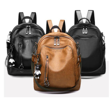 fashion pu leather /oxford fabric waterproof backpack school <strong>bag</strong> for women/girls