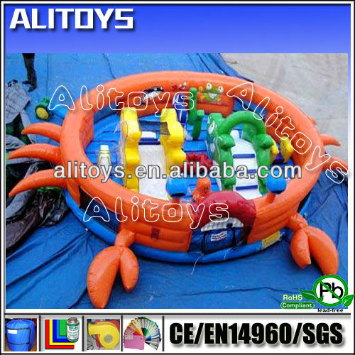 crab inflatable bouncer with slide