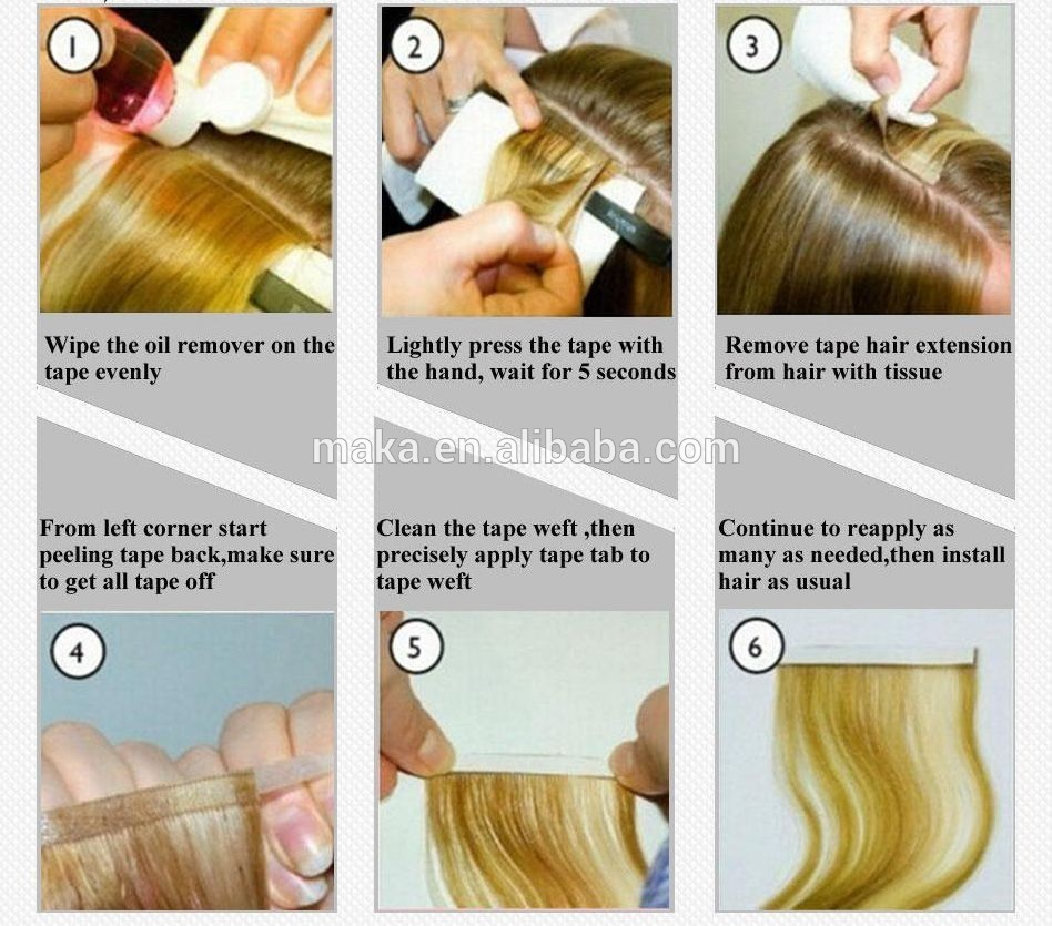 Invisible hair hand made tape hair extensions