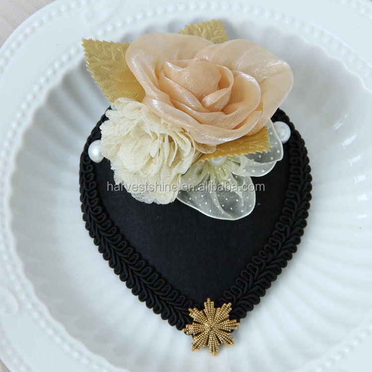 Hair Decoration Accessories Ladies Church Hat with Clips