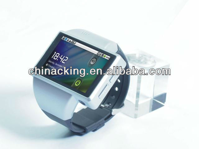 2013 Android Phone Wrist Watch Quad Band, 2 Inch Capacitive Screen, 2MP Camera