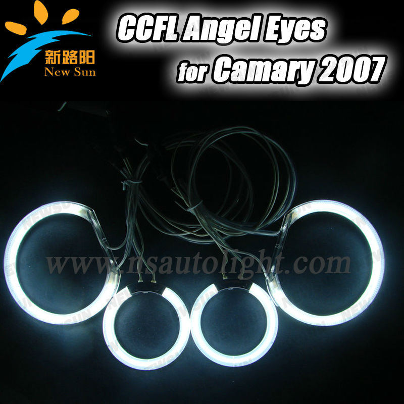 CCFL Angel Eyes Kit Headlight for Camry 2007 with 4 Different Ring Bulbs and 2 Inverters