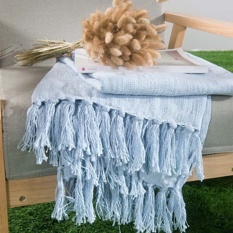 cotton knitted best price blanket in china