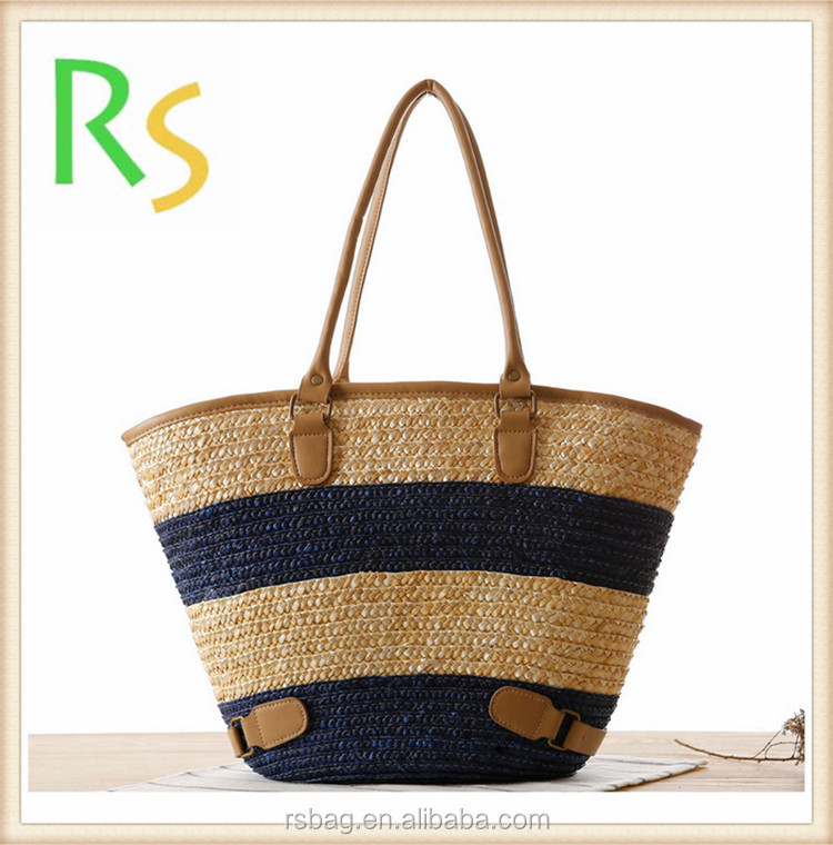 New trendy shopping beach bag bucket summer bags straw <strong>totes</strong> bag