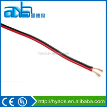 Red balck 0.75mm2 TC conductor transparent PVC insulated speaker cable