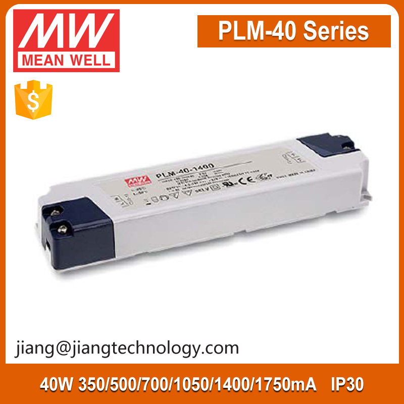 40W LED Driver 1050mA 19~38V PLM-40-1050 Mean Well Constant Current Power Supply