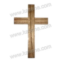 Painted wall rosary wooden crosses