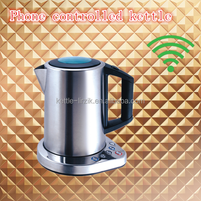intelligent cordless wifi electric kettles with keep warm function 360 degree rotational cordless electric kettles