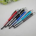 Multifunction ball pen metal button touch nib pen