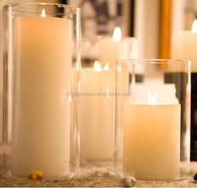 wholesale borocilicate different sizes glass tube candle holder
