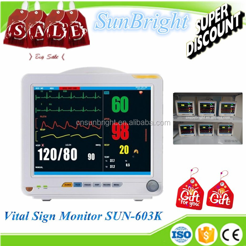 Best price! Over Pressure Protection Multi-parameter ICU Patient Monitor CE/FDA Certified Safety