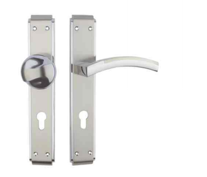 85mm Zinc Alloy One side Handle One side Pull Knob Front Entry Door Handle On Plate