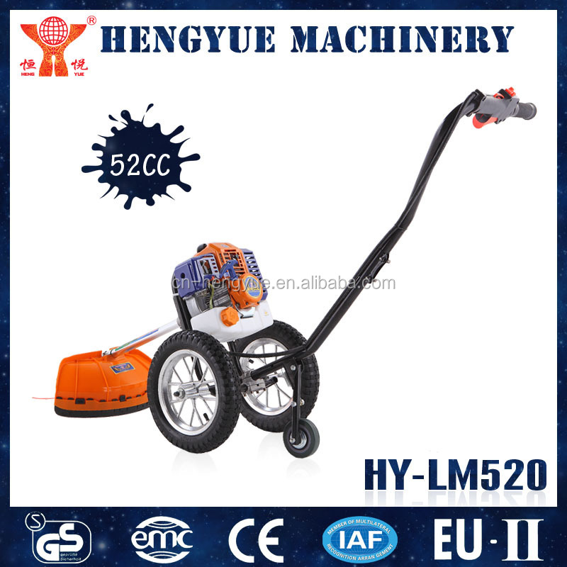 HY-LM520 52cc gasoline brush cutter with wheels for garden with GS and CE