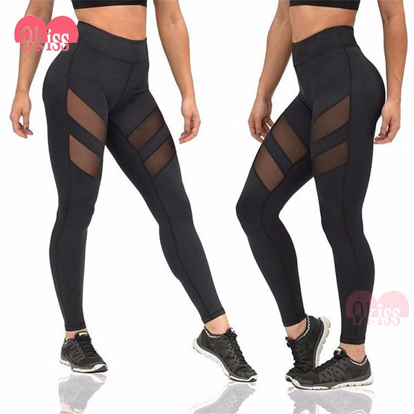 Stylish Black Hidden Pocket Mesh Hollow Woman Legging 2016