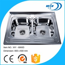 Stainless steel Material and Polished Surface Treatment Stainless steel knee operated hand washing sink