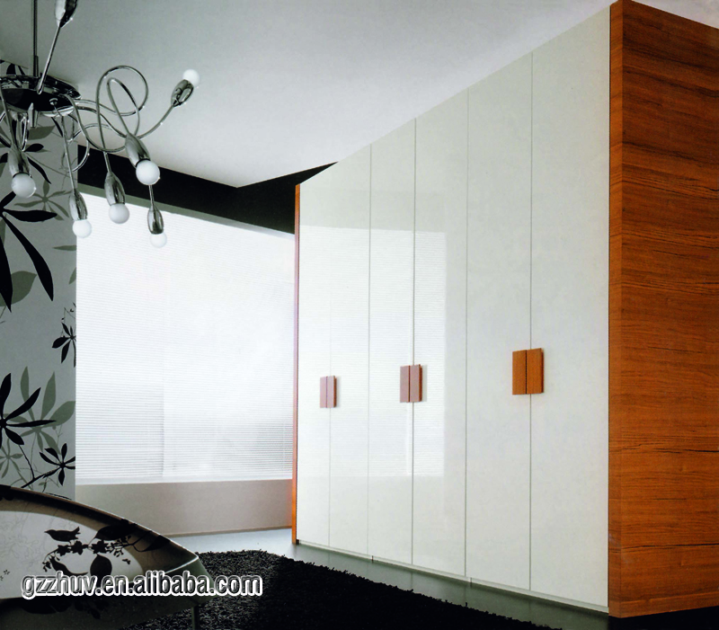 Customized high quality fashionable bedroom wall acrylic wardrobe design