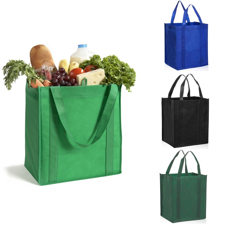 Wholesale Reusable <strong>Eco</strong> Large PP Non Woven Shopping Grocery Tote Bag with Logo