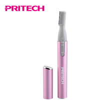 PRITECH 2018 Hot Sell Personal Care Lady Battery Operated Electric Eyebrow Trimmer