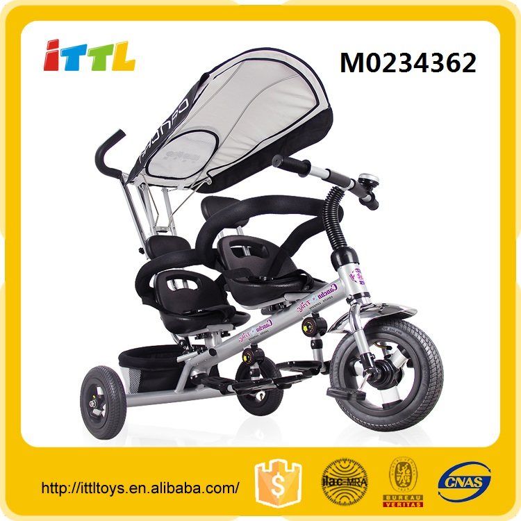 3 wheel factory price two seat baby tricycle with canopy
