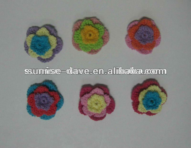 New design crochet flower for headband,garment,shoes,bag and accessory
