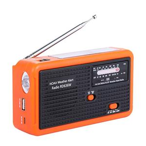 Newest rechargeable solar hand crank self-powered radio portable FM AM NOAA Weather Alert radio with led flashlight