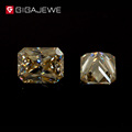 GIGAJEWE Moissanite Yellow Color Beads Princess Cut Stone Moissanite Gem Stone Brincos 2017 Hardness stone for Fashion Jewelry