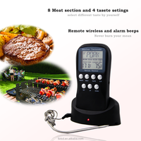 Stainless Steel Kitchen Food Thermometers,BBQ Wireless Meat Grill Food Digital Thermometer