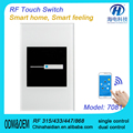 Hot selling Smart Touch Switches for Home Automation Gsm Power Light Switch Remote Control