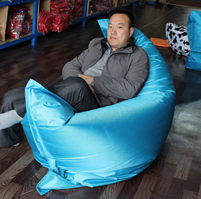 Fire-retardant fabric lazy pu leather beanbag bean bag cover