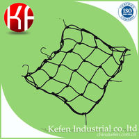 Plastic hook and rubber made Cargo net