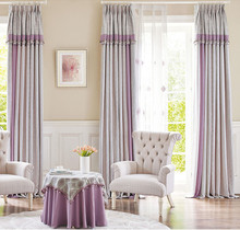 China supplier manufacture custom design Jacquard drapery curtain for living room