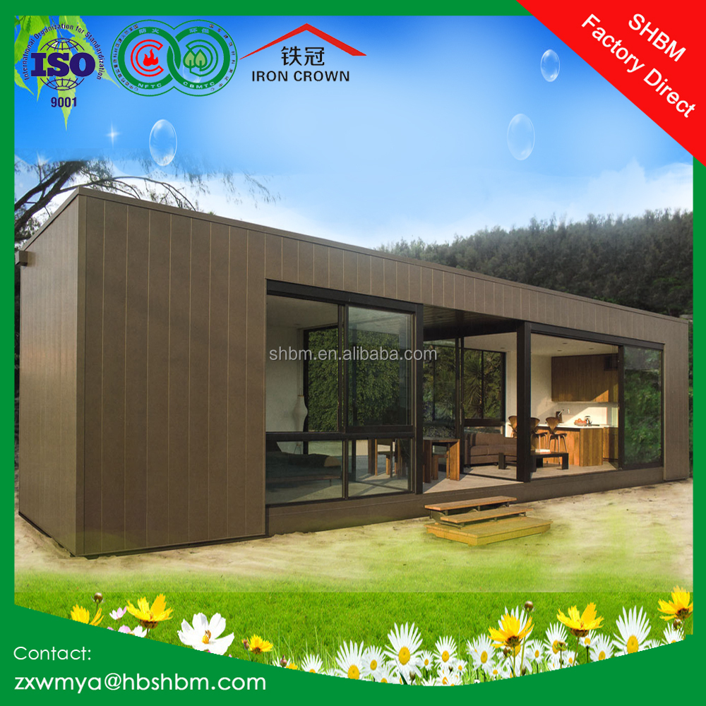 light steel frame prefab movable house villa, office, home