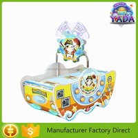 New designed mini ticket redemption air ice hockey table top shooting race game machine