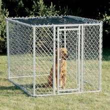 10ft x 10ft x 6ft cheap price garden and backyard Chain Link Type Dog Run Kennel