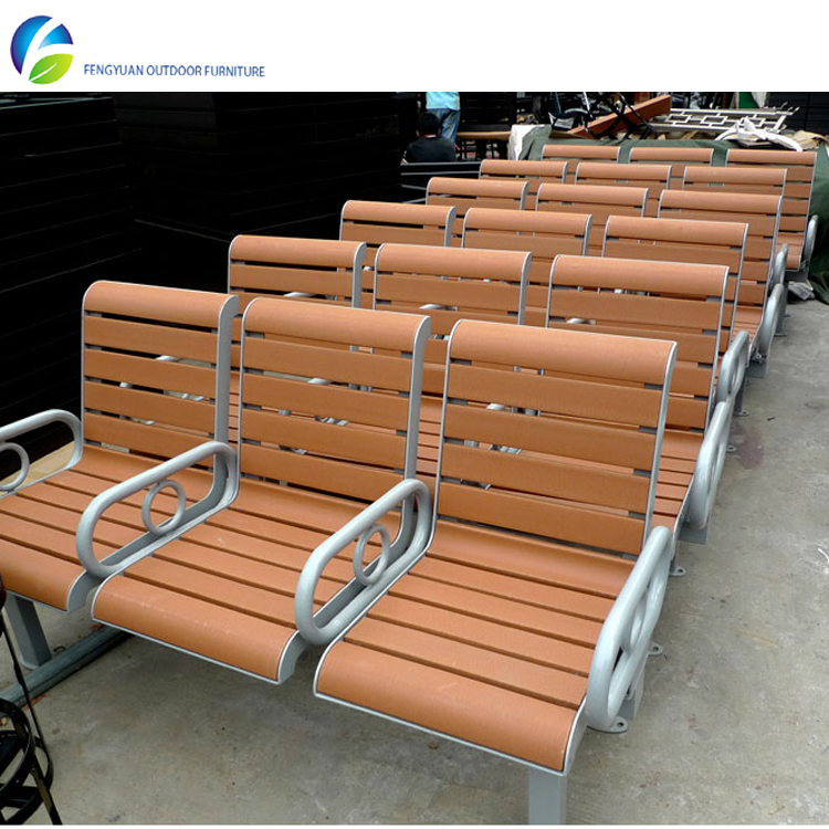 Fashionable Plastic Wood Outdoor Park Bench with Good Quality