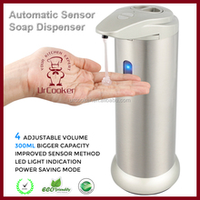 300ML Automatic Sensor Touchless Liquid Soap Dispenser with LED Light Indication
