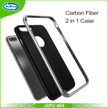 Latest deisgn top sale tpu pc carbon fiber cell phone case for iphone 7