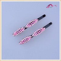 New Fashion Crystal Leaves Shape Bobby Pins ,Girls Fancy Hair Clips For Bridal Hair Accessories
