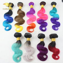 Can be restyled no tangle no shedding 8-30 inch remy red pink green blue color hair for women